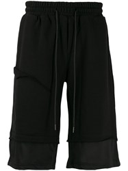 D.Gnak Cutoff Layer Sweat Shorts Black
