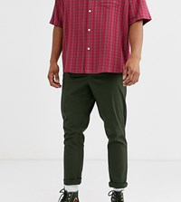 Noak Tapered Chino In Khaki Green