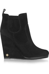 Tory Burch Hendin Suede Wedge Boots Colorless No Colorless No