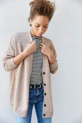 Bdg Hit Snooze Cardigan Neutral Multi