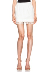 Pam And Gela Cotton Cotton Voile Lace Skirt In White