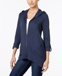 Styleandco. Style Co. Roll Tab Hoodie Only At Macy's Industrial Blue
