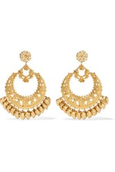 Elizabeth Cole Gold Tone Earrings