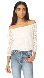 Cupcakes And Cashmere Karla Lace Blouse Ivory