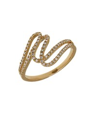 Lord And Taylor Diamond 14K Yellow Gold Swirl Ring