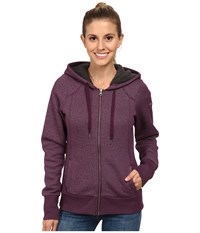 Columbia Greater Pike And Pine Full Zip Hoodie Purple Dahlia Women's Sweatshirt