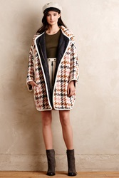 Paul And Joe Sister Houndstooth Wool Coat Brown Motif