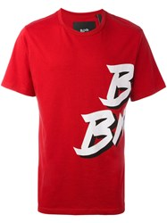 Blood Brother Badge T Shirt Red