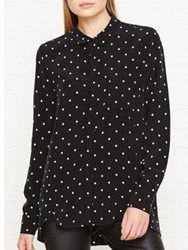 Whistles Emelia Polka Dot Shirt Black White Black White