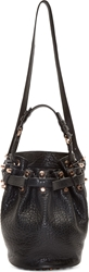 Alexander Wang Black Studded Small Diego Bucket Bag
