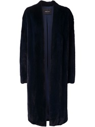 Derek Lam Mink Fur Coat Blue