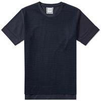 Wooyoungmi Wool Panel Tee Blue