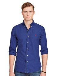 Polo Ralph Lauren Slim Fit Button Down Collar Shirt Holiday Navy