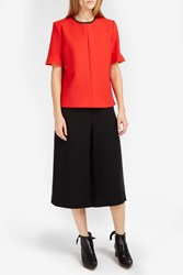 Victoria Beckham Women S Flounce Sleeve Wool Jumper Red