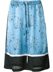 Astrid Andersen Printed Basket Shorts Blue