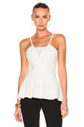 Roland Mouret Turing Multi Floral Viscose Knit Top In White