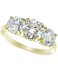 Giani Bernini Cubic Zirconia Trinity Ring In Sterling Silver Created For Macy's Gold