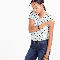 J.Crew Multi Polka Dot T Shirt