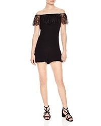 Sandro Elzir Off The Shoulder Romper Black