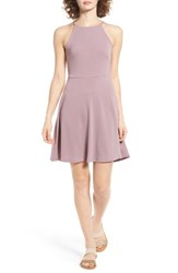 Lush Women's Ava Skater Dress Quail