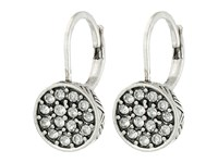 The Sak Pave Circle Drop Earrings Silver Earring