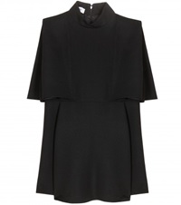 Valentino Cape Effect Wool Crepe Top Black