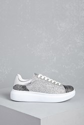 Forever 21 Wanted Glitter Low Top Sneakers
