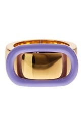 Marc By Marc Jacobs Enamel Buckle Up Ring Red