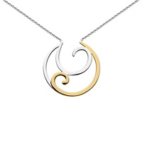 Kit Heath Crescent Gold Plated Necklace Gold