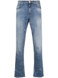 Versace Jeans All Over Distressed Jeans Blue