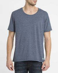 Element Blue Basic Open Neck Crew T Shirt