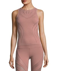 Alo Yoga Lark Fitted Performance Tank Pink Pattern