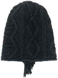 Diesel Deconstructed Beanie Black