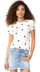 Sincerely Jules Heart Embroidered Tee White