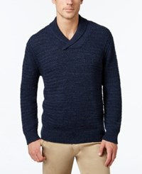 Tommy Bahama Men's Cape Escape Chunky Knit Shawl Collar Sweater Blue Note