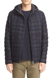 Moncler Men's 'Blanchard' Tartan Plaid Wool Down Jacket