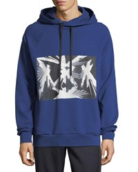Public School Bobo French Terry Hoodie With Skyscraper Graphic Blue
