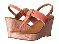 Tommy Hilfiger Maree Coral White Women's Wedge Shoes Orange