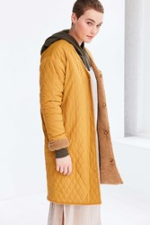 Silence And Noise Metta Reversible Longline Liner Jacket Mustard
