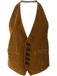 Dsquared2 Ribbed Sleeveless Gilet Brown