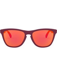 Oakley Frogskins Mix Sunglasses Red