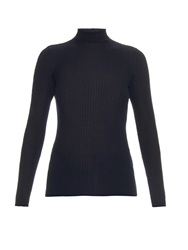 Jil Sander Roll Neck Cashmere And Silk Blend Sweater