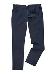 Linea Men's Battersea Cotton Stretch Trouser Blue