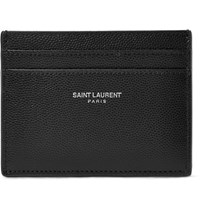 Saint Laurent Pebble Grain Leather Cardholder Black
