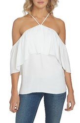 1.State Women's 1. State Halter Neck Ruffle Blouse