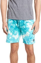 Obey Paloma Bleach Dyed Shorts Teal Multi