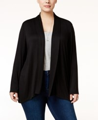 Styleandco. Style Co. Plus Size Draped Open Front Cardigan Only At Macy's Deep Black
