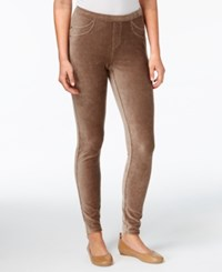 Style And Co Petite Corduroy Leggings Created For Macy's Willow Bark