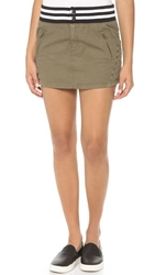 Pam And Gela Embellished Skirt Army Green