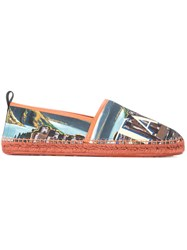 Dolce And Gabbana Printed Espadrilles Multicolour